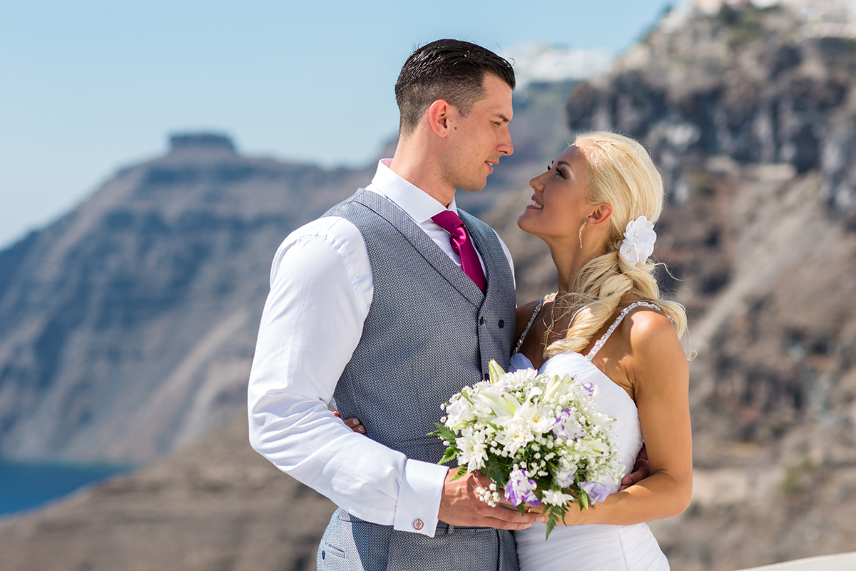 santorini wedding packages all inclusive