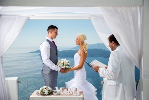 Santorini wedding just the too of us