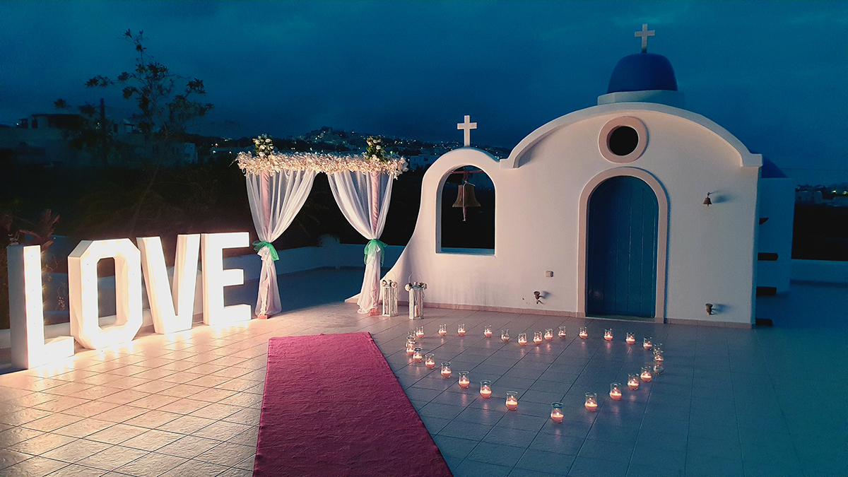 santorini small wedding venue